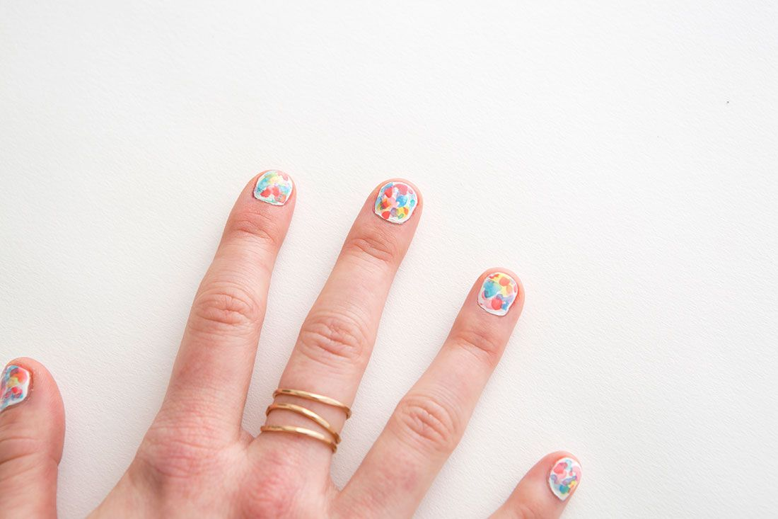 How To Diy Watercolor Nail Art Just In Time For Spring Water