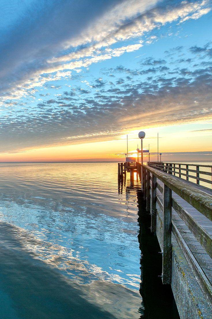 Sonnenaufgang im Februar in Haffkrug an der Ostsee