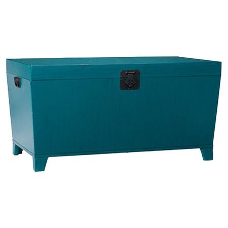 Found It At Wayfair Pyramid Trunk Coffee Table In Turquoise