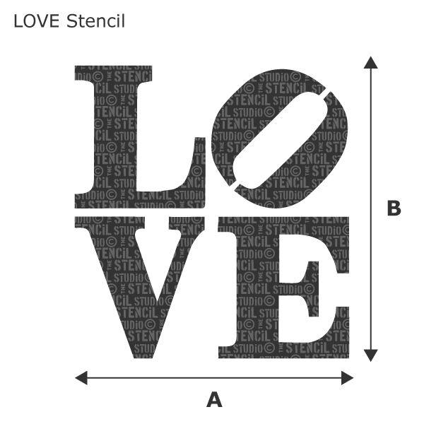 Banksy Wall Stencils - LOVE Stencil - The Stencil Studio   Moldes ...