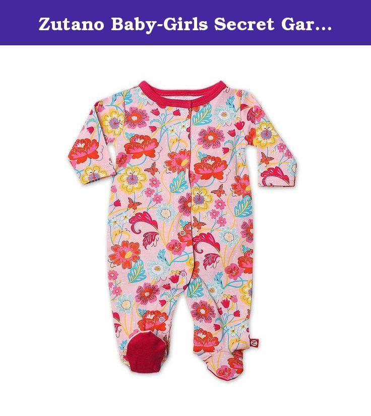 Zutano Baby-Girls Newborn Secret Garden Pant
