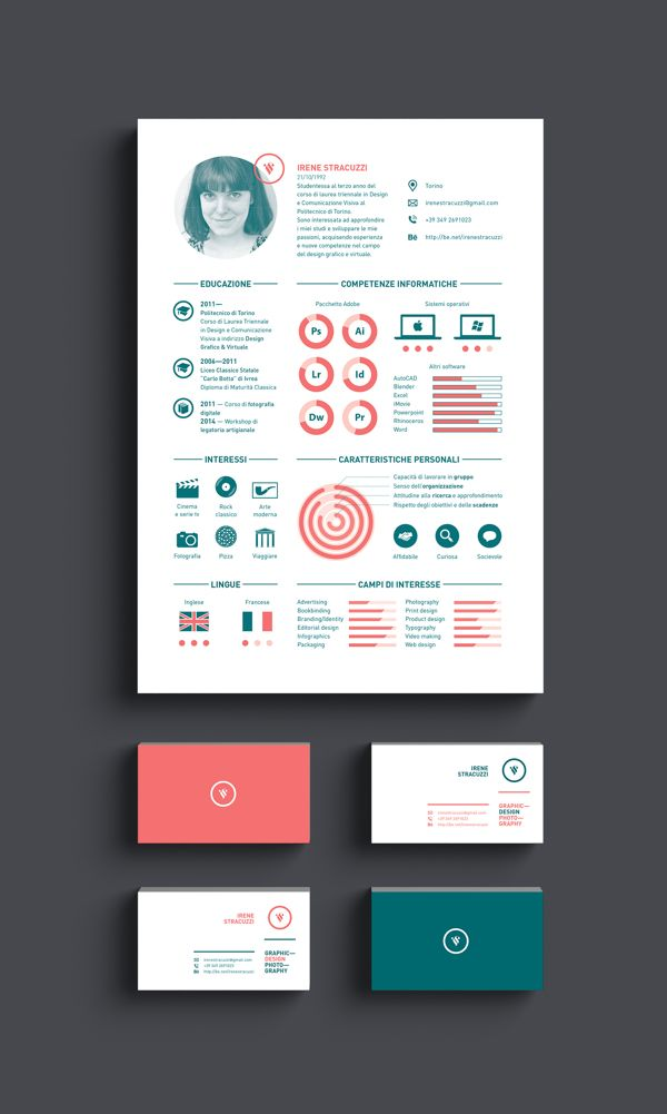 CV   Curriculum Vitae   2014 by Irene Stracuzzi, via Behance - resume sites