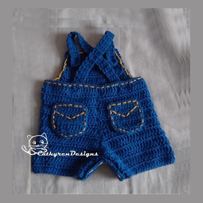 4) Name: \'Crocheting : Baby Superman Jeans Overall | Bebés y niños ...