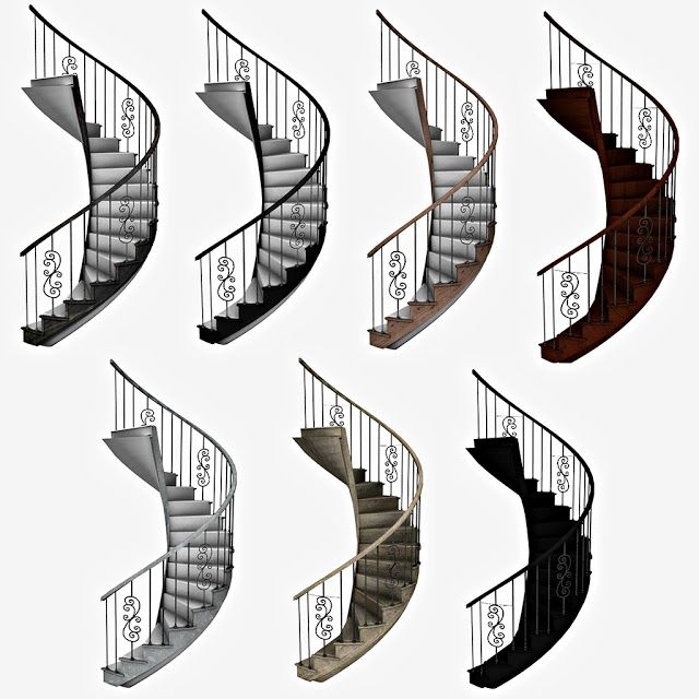 Sims 4 CC's – The Best: Spiral Stairs by Leo Sims