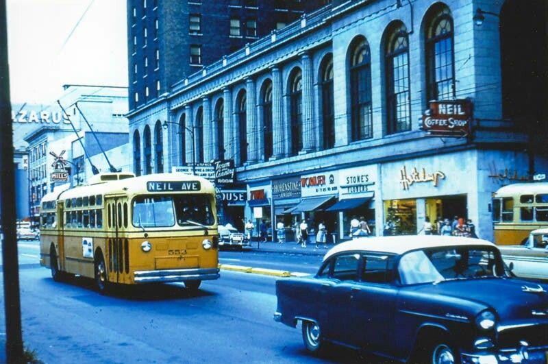 Columbus , Ohio Marmon Herrington trolley coach Street