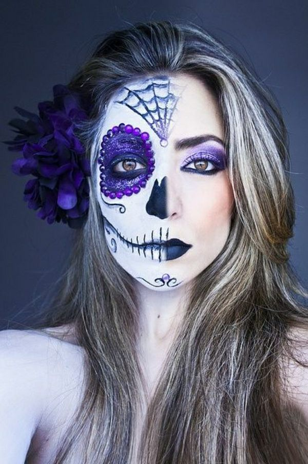 Le Tuto Du Maquillage De Halloween Artistique Makeup Halloween Makeup And Costumes