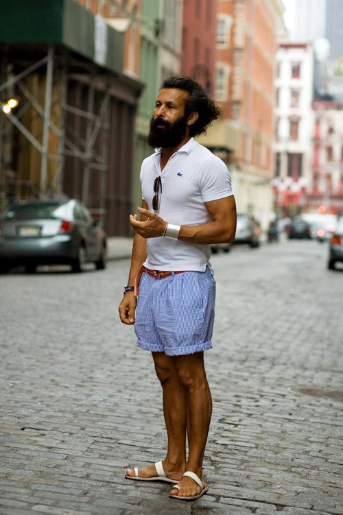 Men S White Polo Light Blue Vertical Striped Shorts White Leather Sandals Brown Leather Belt Well Dressed Men Mens Fashion Summer Sartorialist,How To Save A Dying Bamboo Plant