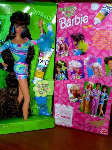 Barbie Totally Hair Brunette Superstar Head Mold 1991 Barbie Barbie Friends Barbie 90s
