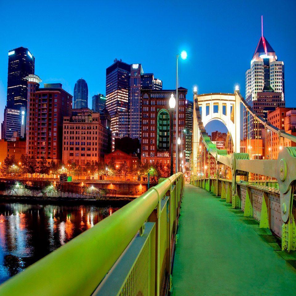 6th Street Bridge, Pittsburgh, PA Romantic city
