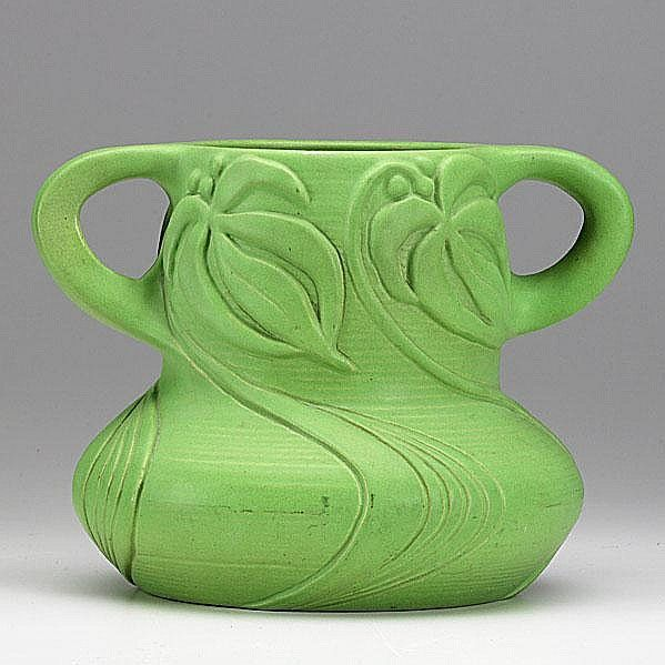 Sold Price: VAN BRIGGLE; Exceptional two-handled vase with – February 5, 0111 12:00 PM EST