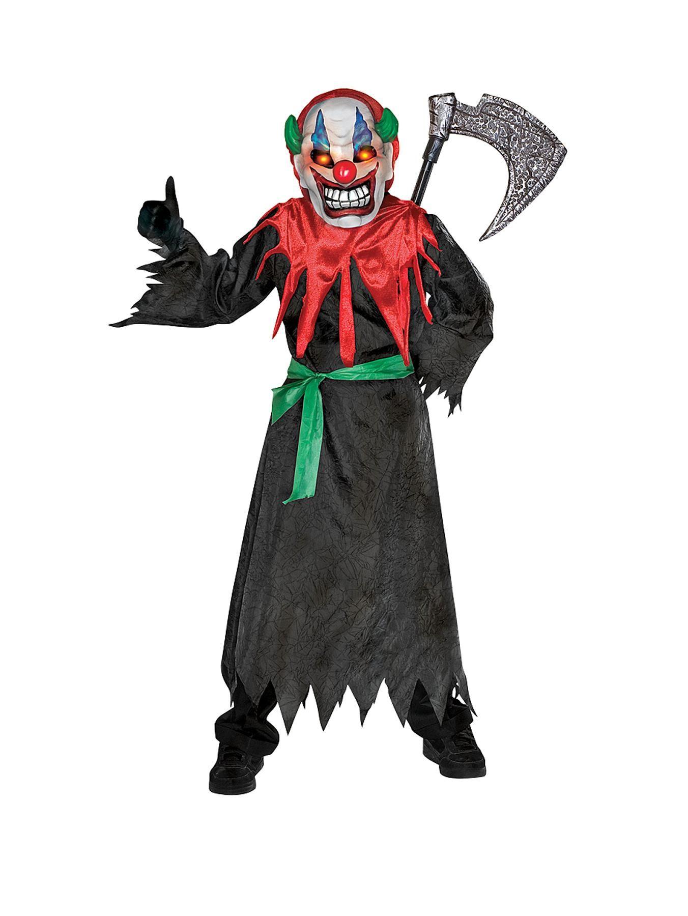 Boys Fancy Dress Costume Age 5-10 KIDS SCARY HALLOWEEN EVIL JOKER JESTER