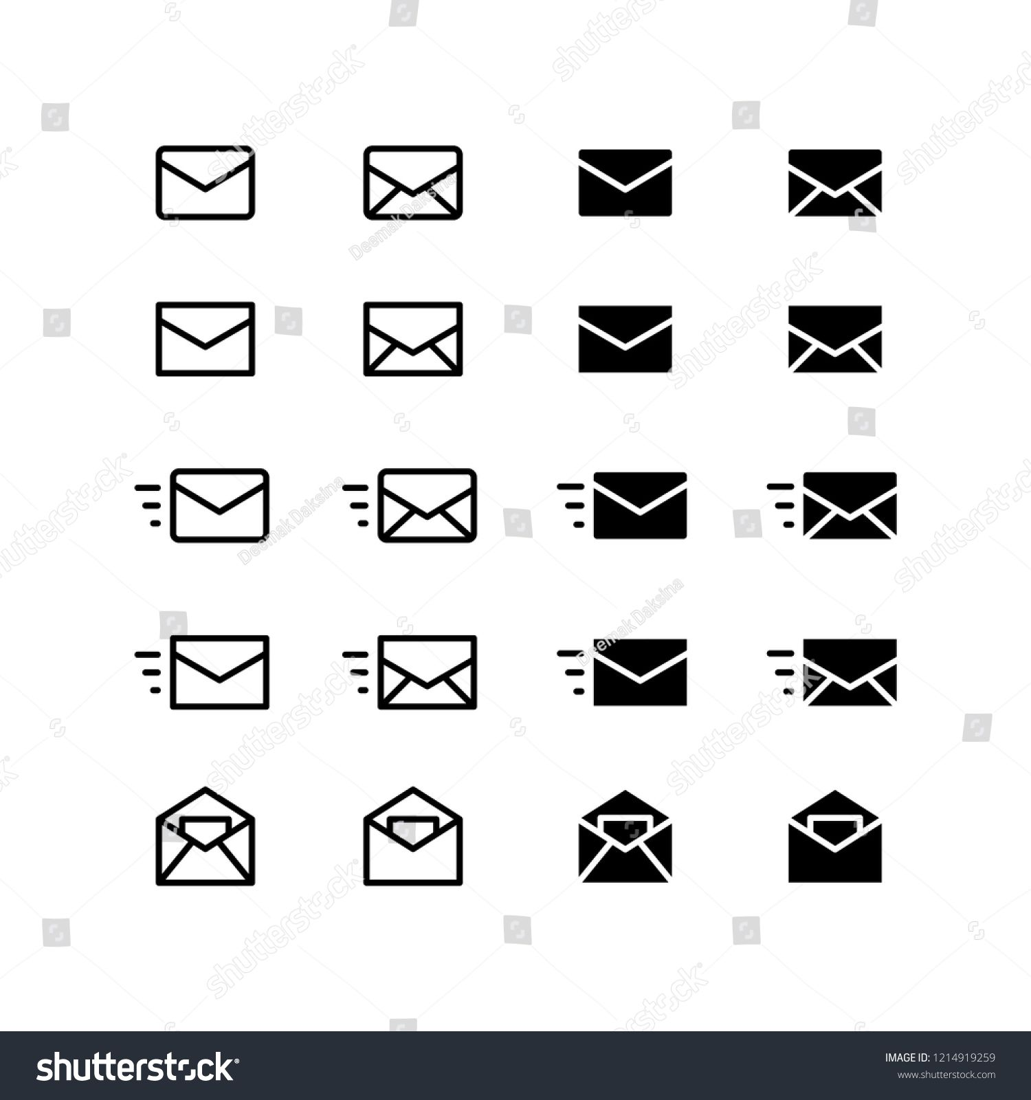 Mail Icon Design. mail, envelope, letter, email