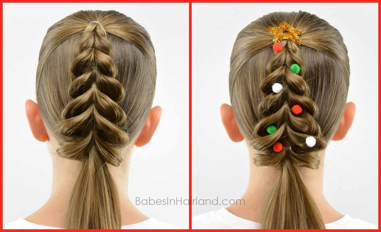 Christmas Tree Pull Through Braid Kids Braided Hairstyles Crazy Hair Kids Hairstyles