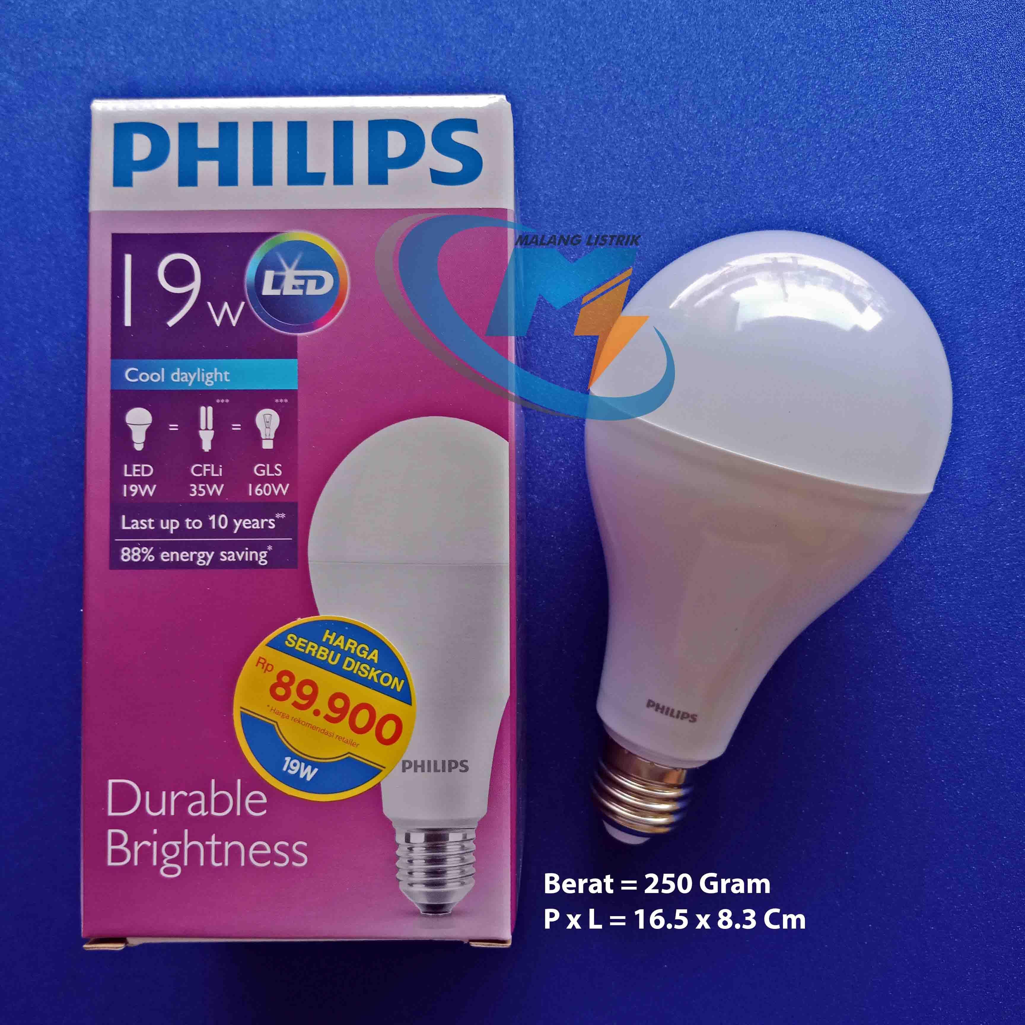 Lampu Philips Led 19 Watt Malang Listrik Info Harga Kunjungi Www 8w Malanglistrikcom