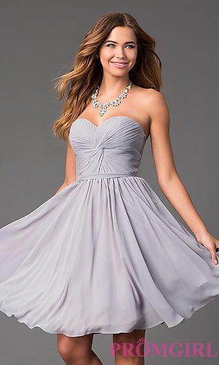 Knee Length Semi Formal Dress at PromGirl.com  eeb8a7277
