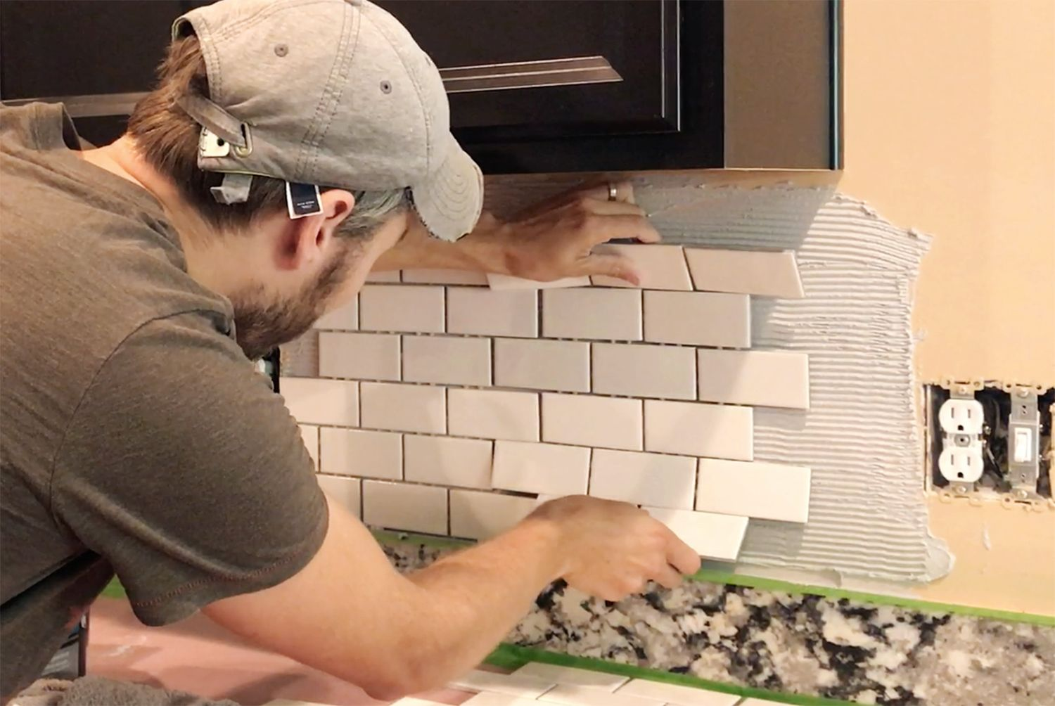 How To Install A Subway Tile Kitchen Backsplash Young House Love Subway Tile Backsplash Kitchen Subway Tile Kitchen Kitchen Tiles Backsplash