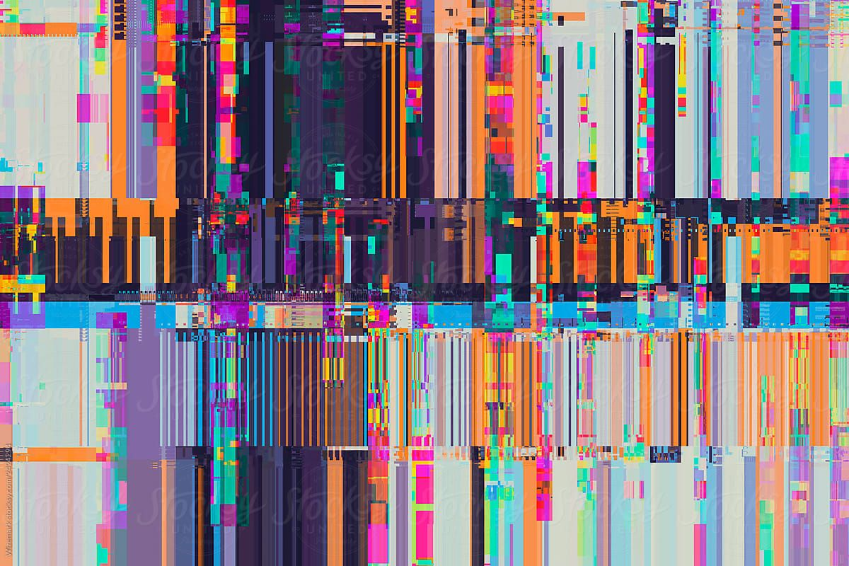 Digital Pixel Glitch Circuit Stocksy United Colorful Vibrant Glitch Background Abstract Pixel Glitched Texture Backgr Glitch Pixel Texture Download