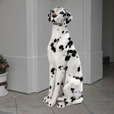 This Dalmatian Ceramic Dog Statue Is 36