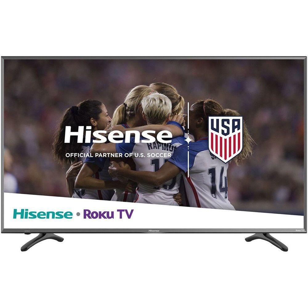 Hisense Roku Smart Tv With 50 Class Display R7e 4k Uhd Hdr In Black Smart Tv Uhd Tv Roku