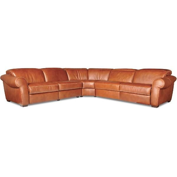 Best Brandy Leather 5 Piece Sectional Leather Sectional 400 x 300