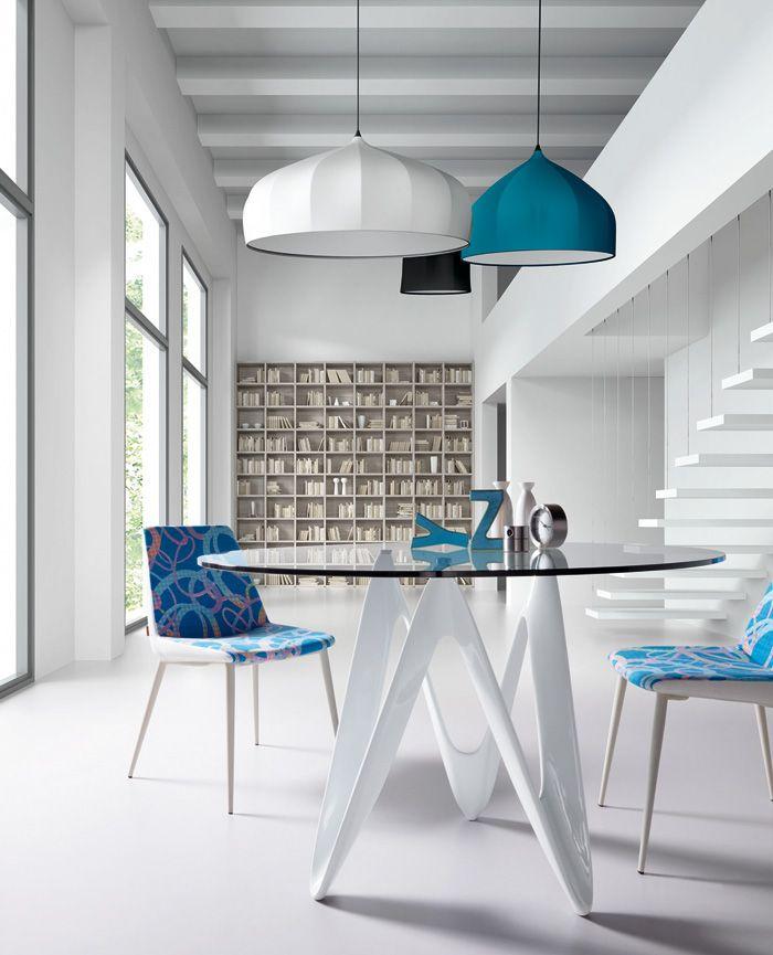 Mesa de comedor redonda con cristal templado transparente - Mesas cristal templado ...