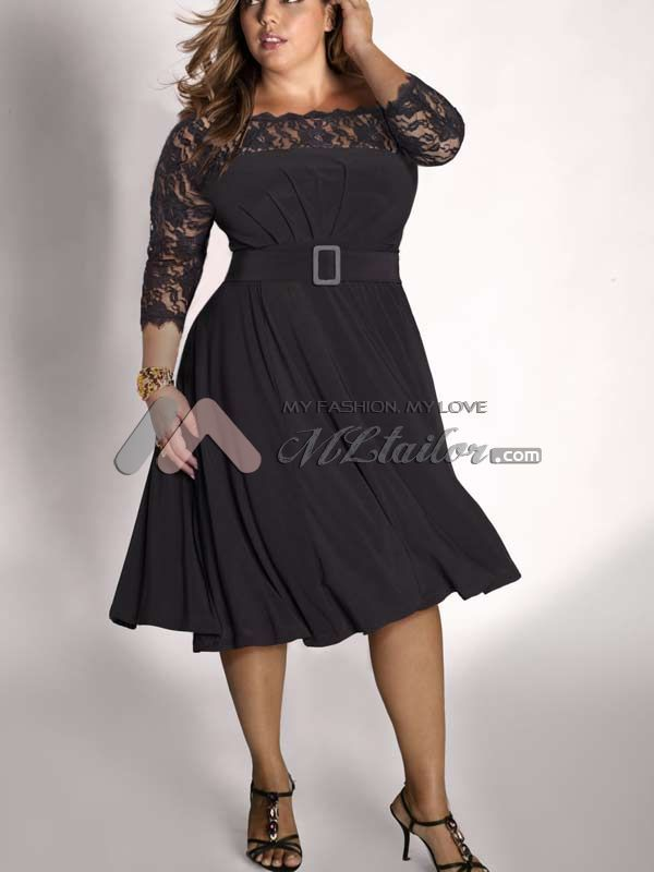 Black long dresses plus size - Plus dresses