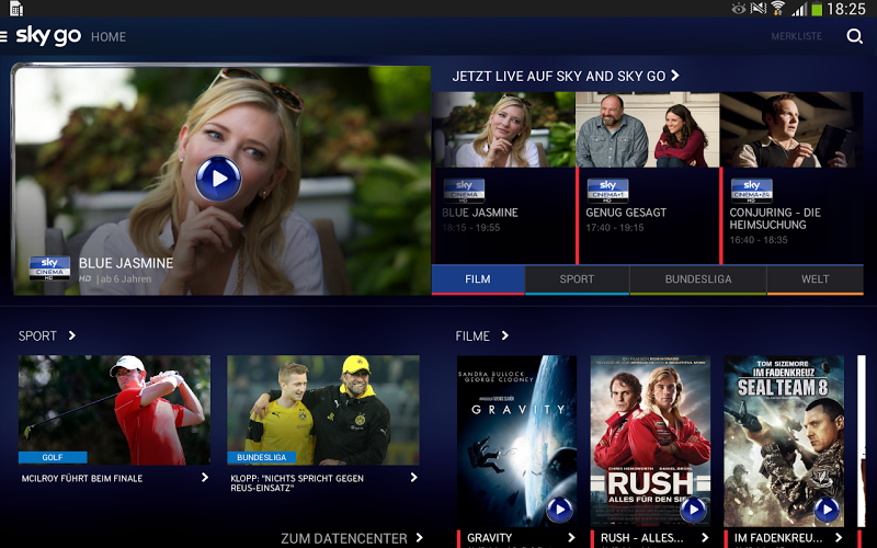Sky Go APK Download Free Entertainment app for Android