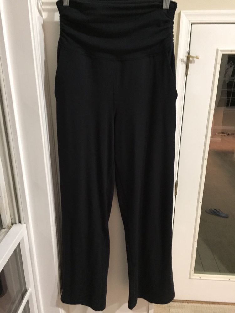 86efe2cbd5 Lululemon Take It Easy Pant Black Ruched High Waist Wide Leg Pocket4 EUC  #fashion #clothing #shoes #accessories #womensclothing #activewear (ebay  link)