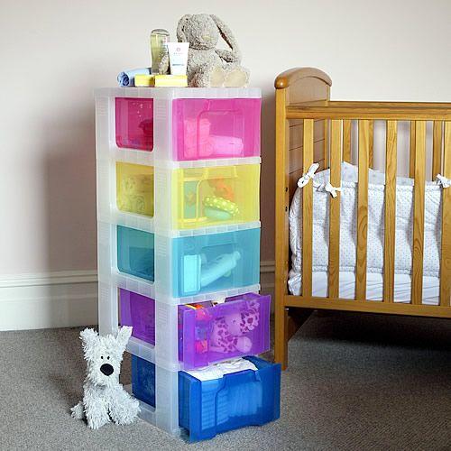 Multicolour 5 Drawer Storage Tower   Childrenu0027s Bedroom/nursery