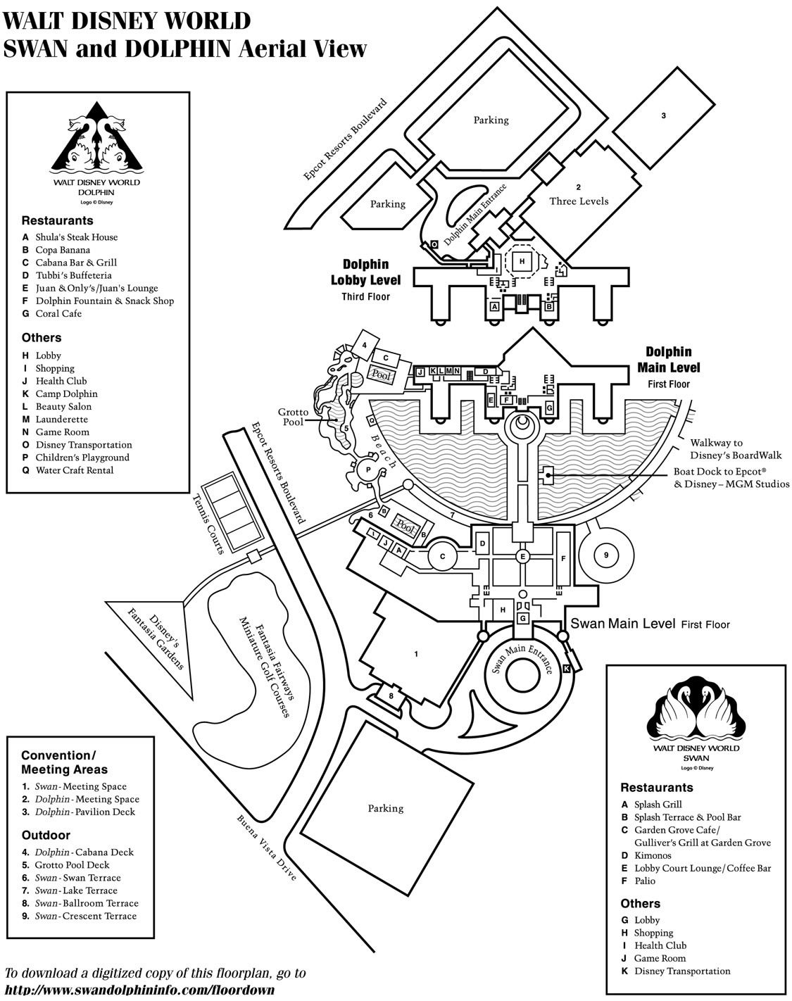 Disney resorts swan and dolphin map wdw disney resorts disney resorts swan and dolphin map gumiabroncs Images