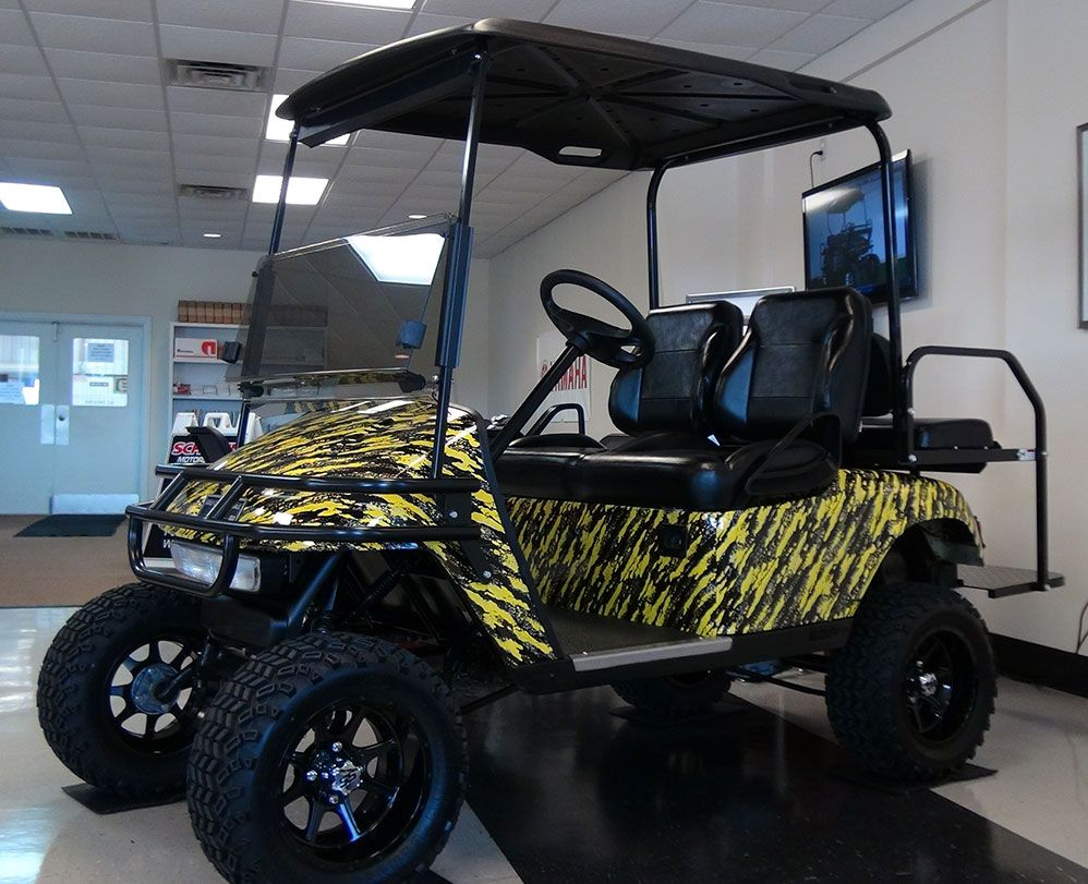 Yellow Splash Custom Golf Carts Golf Carts Black Splash