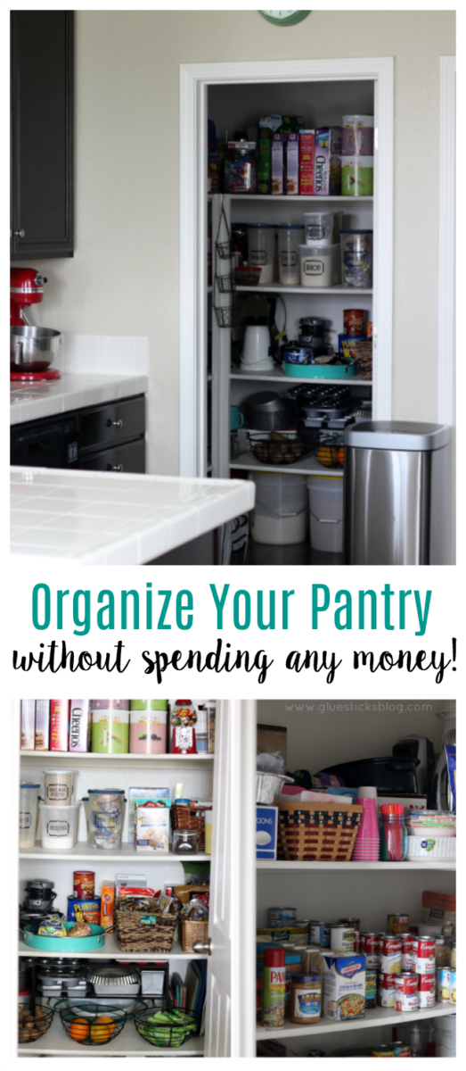 you don t need to spend 200 on baskets and bins to have a clean and organized pantry i ll show on kitchen organization no pantry id=74549