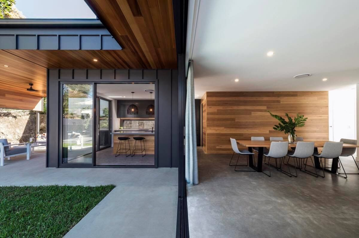 black vincent timber clad houses | Exterior - could paint windows black and timber cladding ...