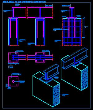 Staleva Balka Do Betonnoyi Stini Zv Yazku Steel Beams Steel Frame Construction Steel Columns