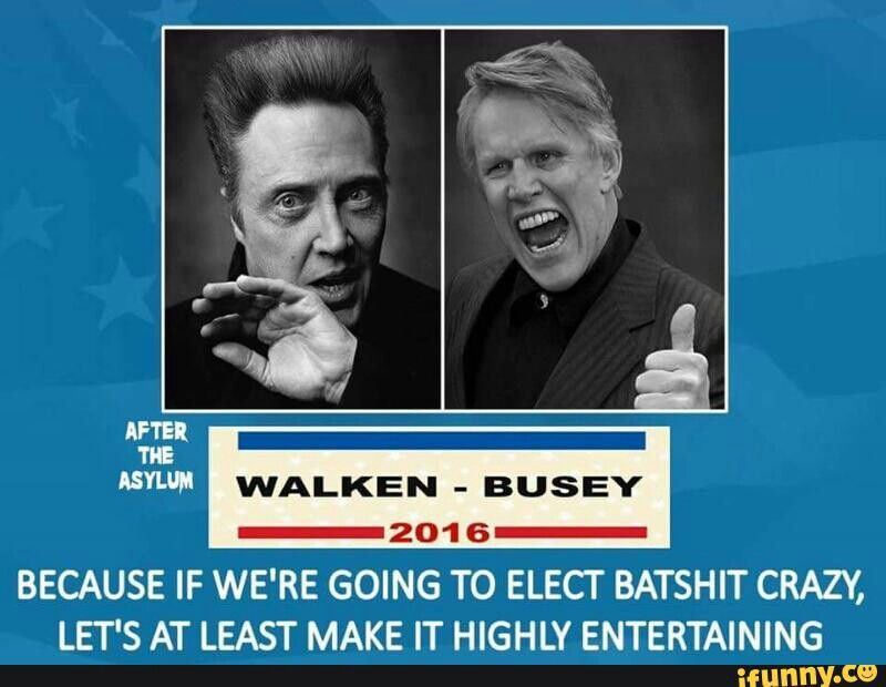 The Walken/Busey Ticket for President..