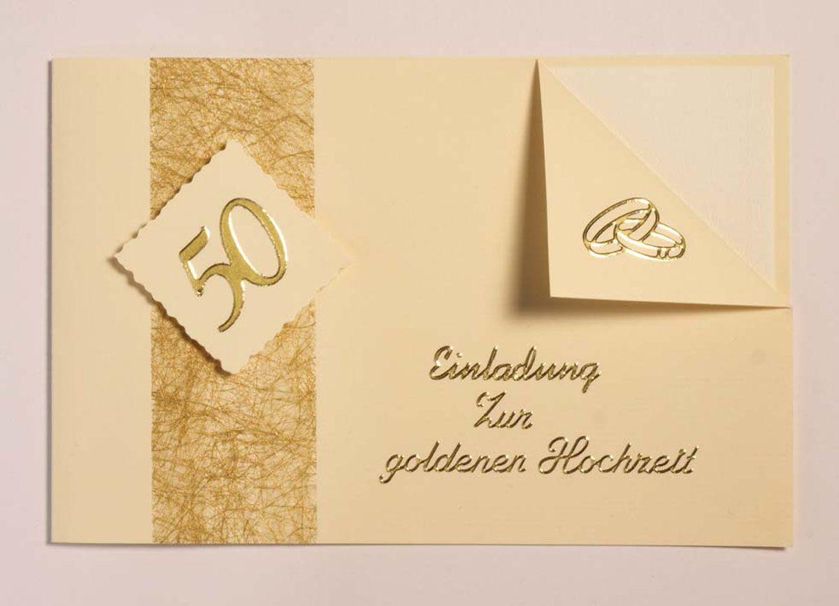 Einladungskarten Zur Goldenen Hochzeit Texte Einladung