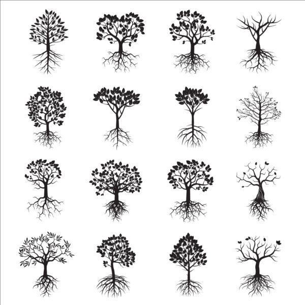 Tree With Tree Root Icons Plant Icons Free Download Tree Tattoo Small Roots Drawing Oak Tree Tattoo