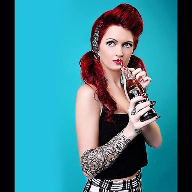 A inked up rockabilly portrait taken at www.altstudiouk.com #pinup #1950spinup #pinupgirl #ink #inkedgirl #tattooartist #rockabilly #rockabillygirl #vintage #makeupartist #mua #makeover #burlesque #1950s #ilamasqua #mac #manchester #victoryroll #altmodel #alternative #altstudiouk #photooftheday #follow #cocacola #come #pigtails by altstudiouk