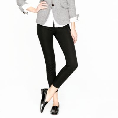 Easy outfit to replicate. Grey blazer, white button up, minnies, black loafers