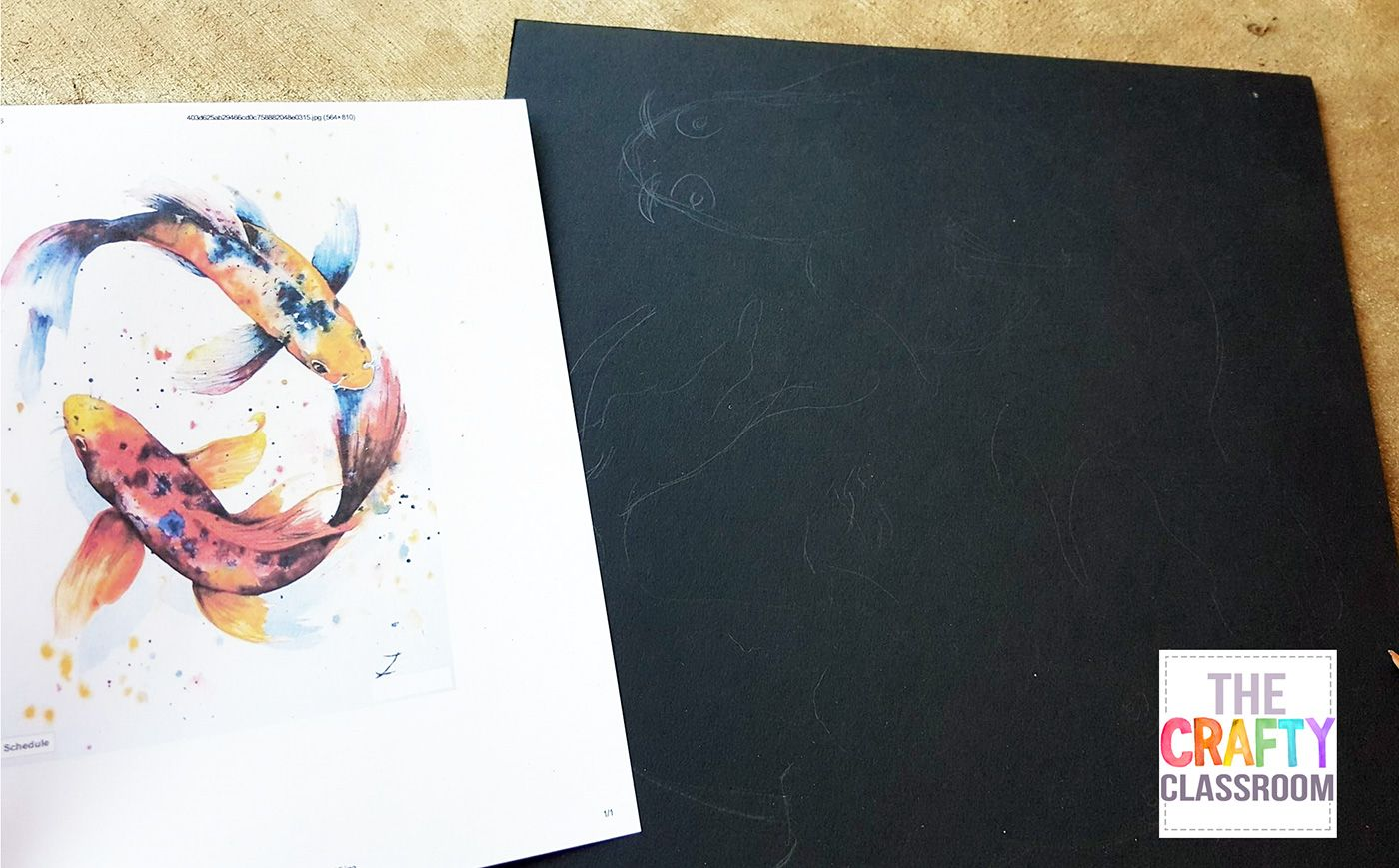 Koi Watercolor Art Project For Kids