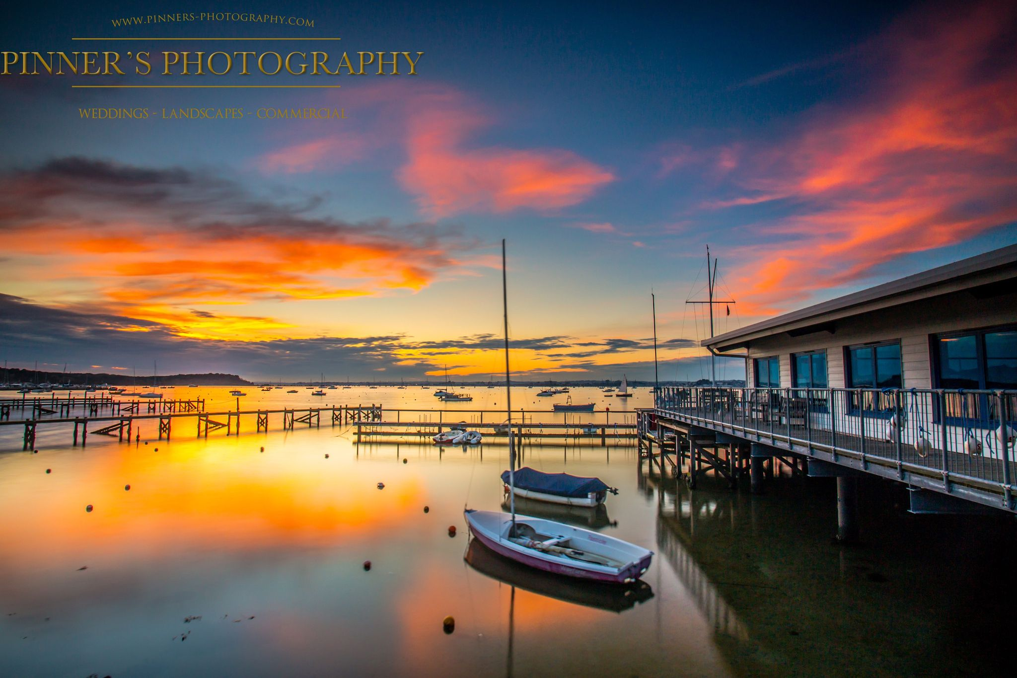 Sunset at Sandbanks Dorset. -  Lovely to get a red sky at night & water reflection,love way to end the day. Dorset.