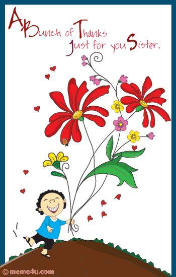 Pleasant Thank U Sis Birthday Thank You Cards Cute Thank You Cards Funny Birthday Cards Online Alyptdamsfinfo