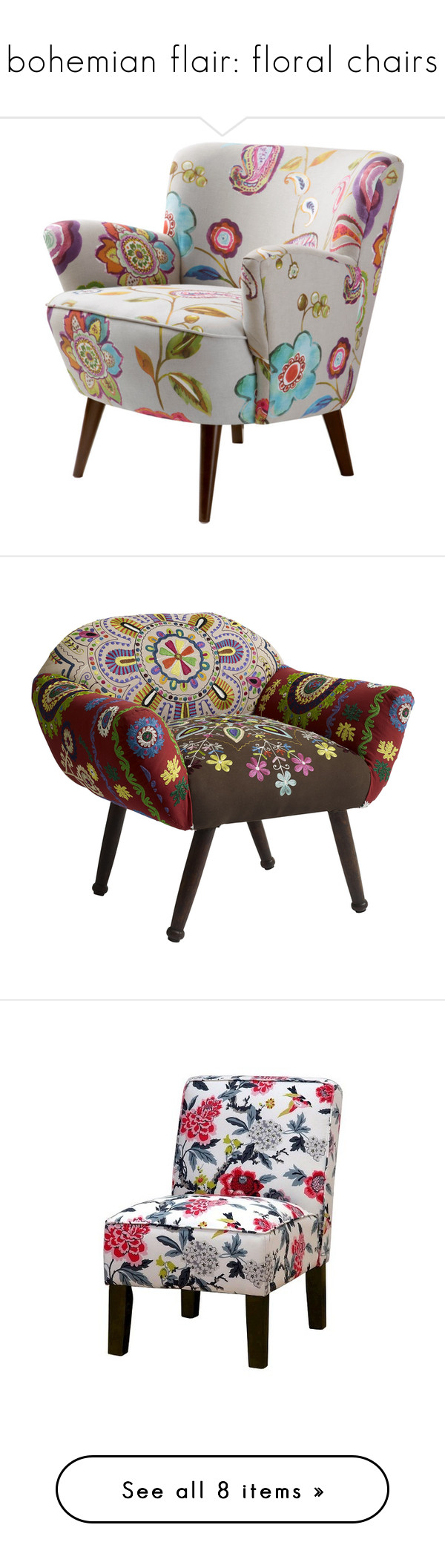 Best Bohemian Flair Floral Chairs By Piplusc Liked On 400 x 300