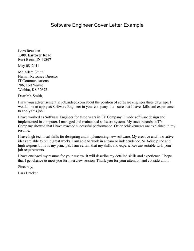 25+ Engineering Cover Letter   Cover Letter Examples For Job ...
