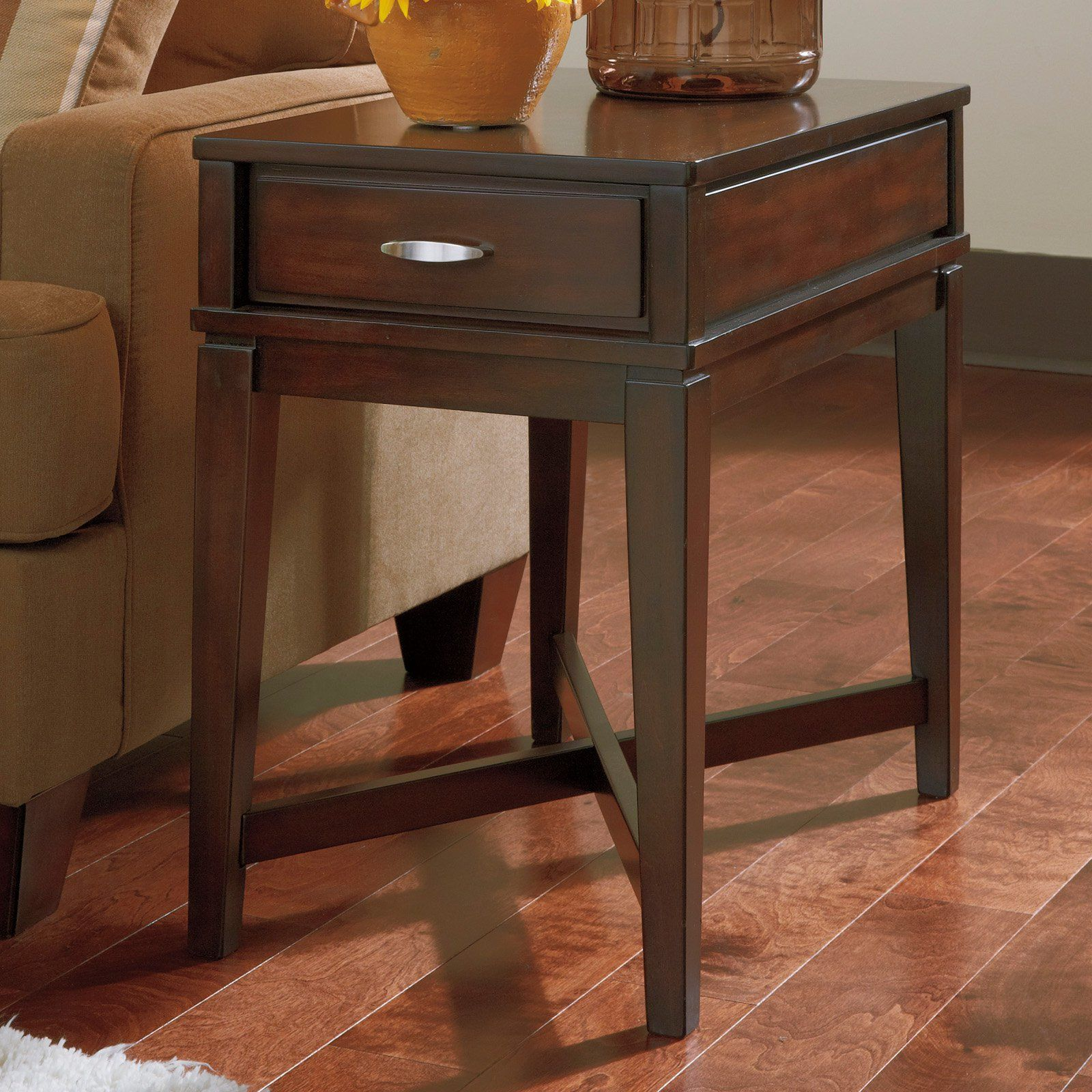 Signature Design By Ashley Dinelli Brown Chair Side End Table Www Hayneedle Com Tables Bedroom