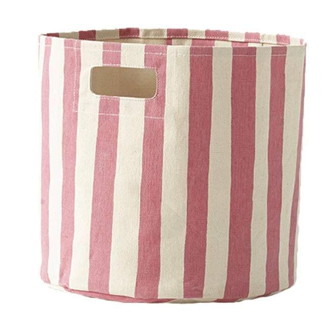 Stripe Bin in Pink - Pehr Designs - $39.99 - domino.com
