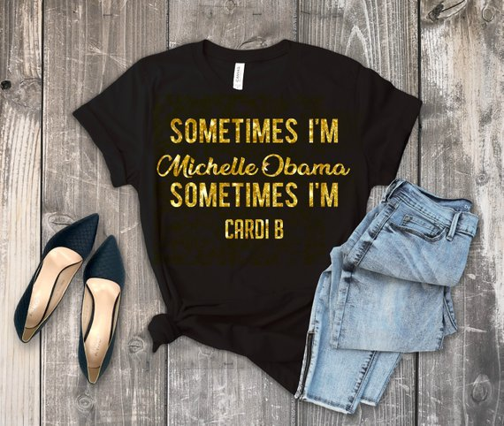 f4dbf6cb6 Michelle Obama and Cardi B T shirt - Somewhere Between Shirt - Womens Funny  - Mom Gift - Hip Hop Tee