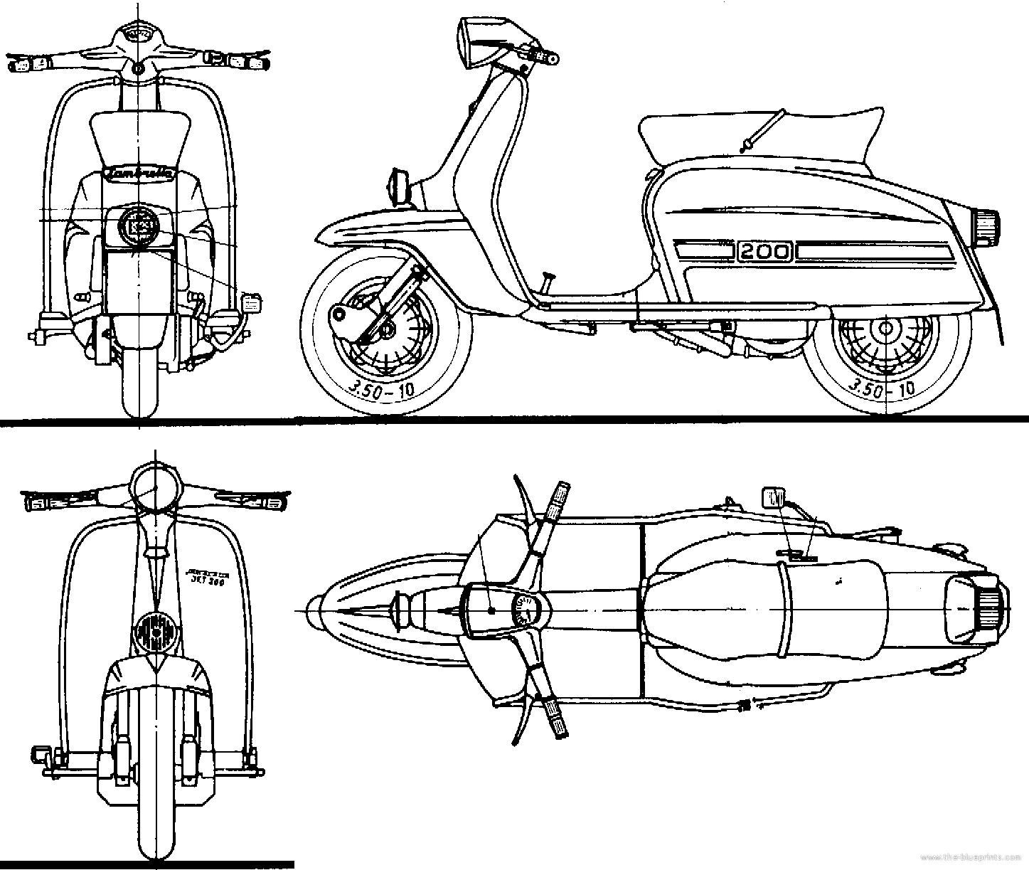 Lambretta Technical Drawing