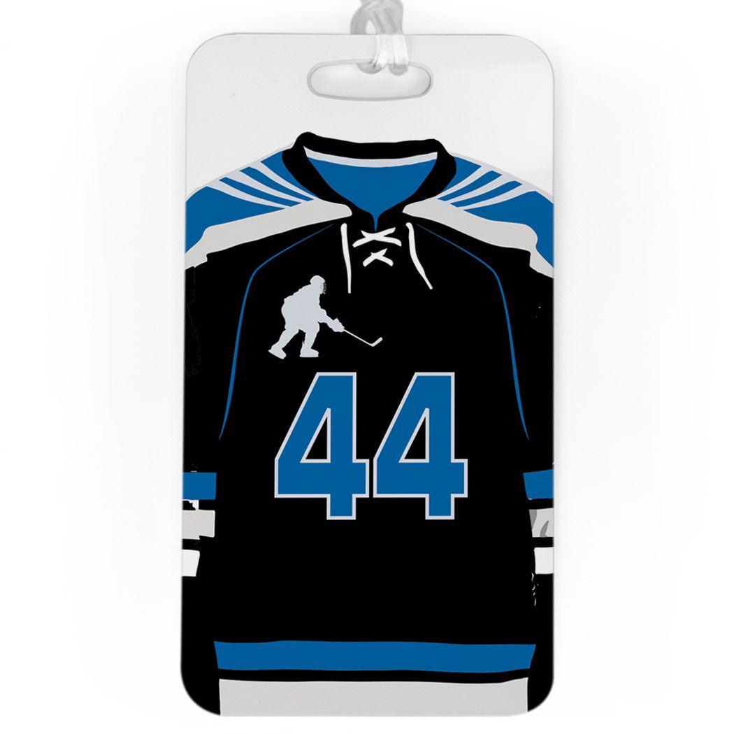 Hockey Bag Luggage Tag Personalized Hockey Jersey Team Gifts Hockey One Bag