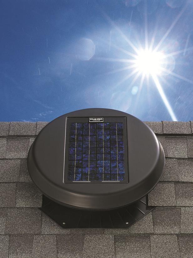 Solar Powered Attic Fan Solar Star A Hot Attic Transfers